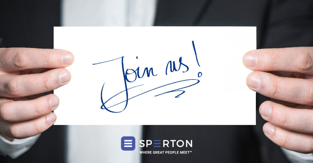 Join us! Recruitment job offers at Sperton
